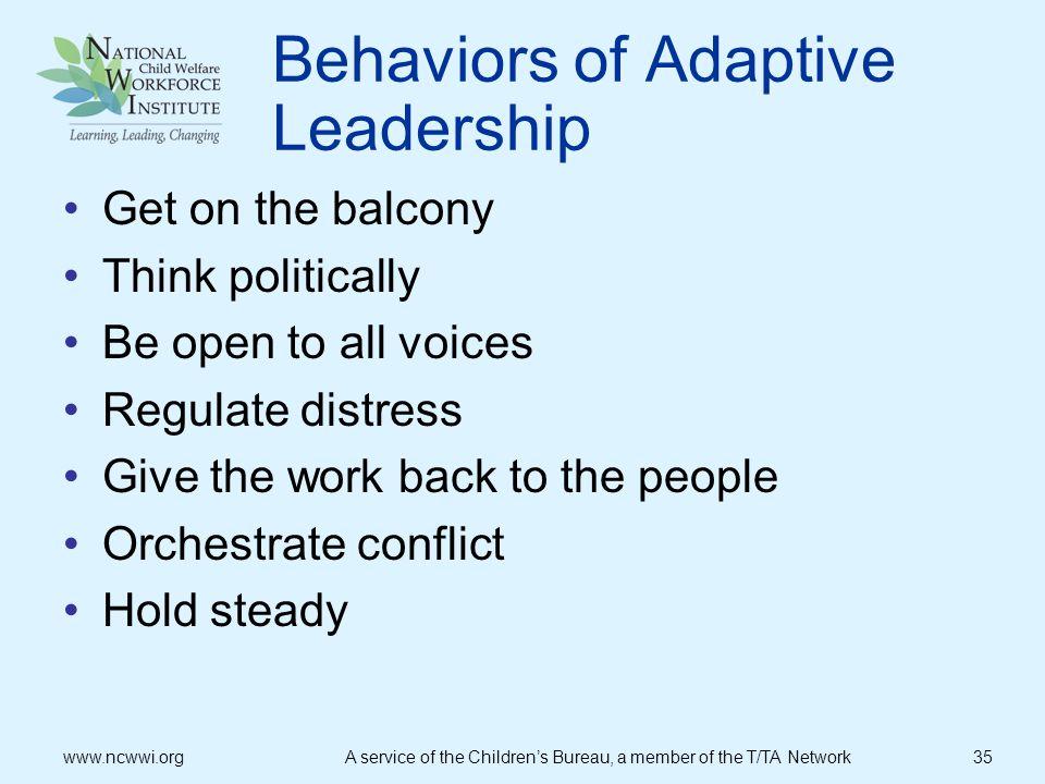 Behaviors of Adaptive Leadership