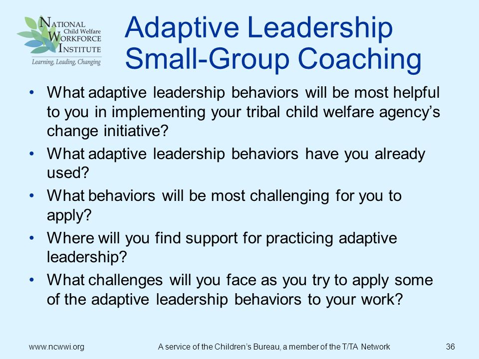 Adaptive Leadership Small-Group Coaching