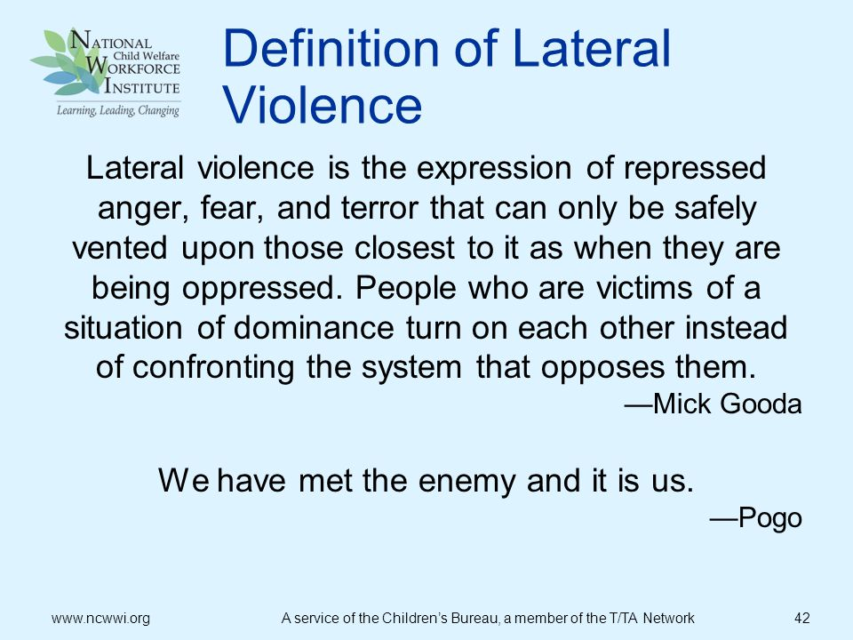 Definition of Lateral Violence