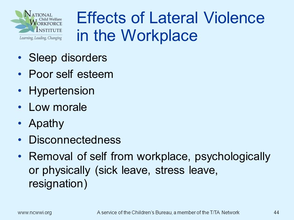 Effects of Lateral Violence in the Workplace