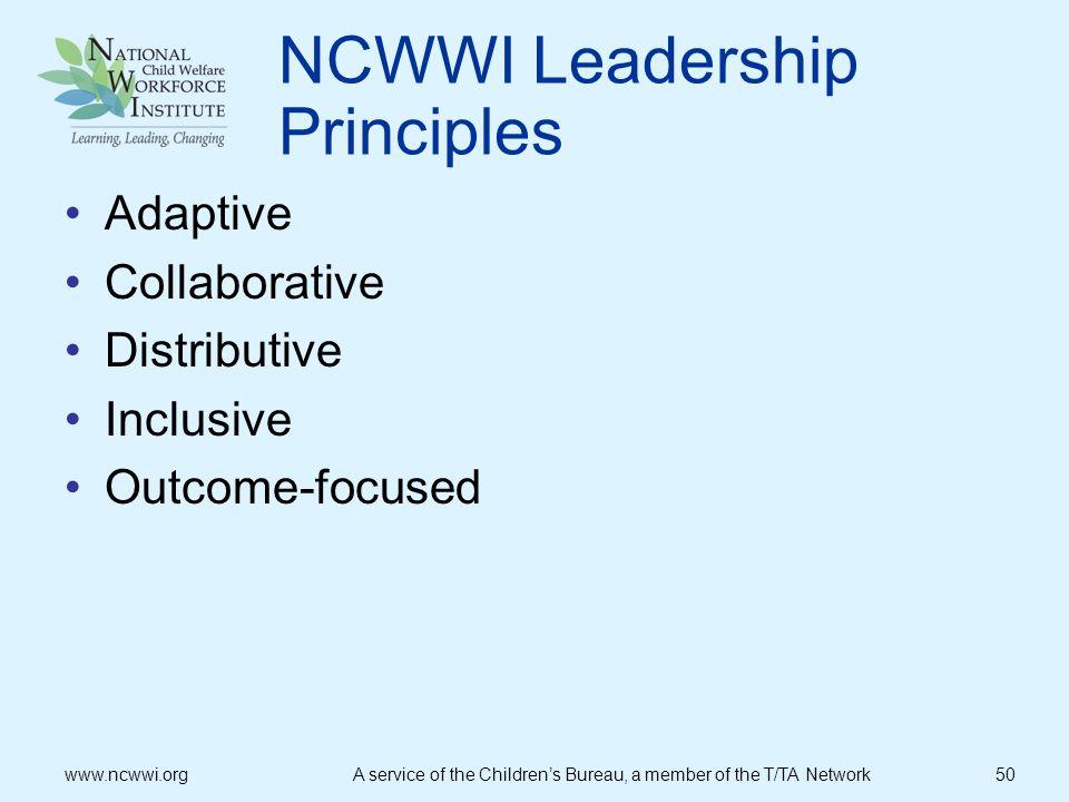 NCWWI Leadership Principles