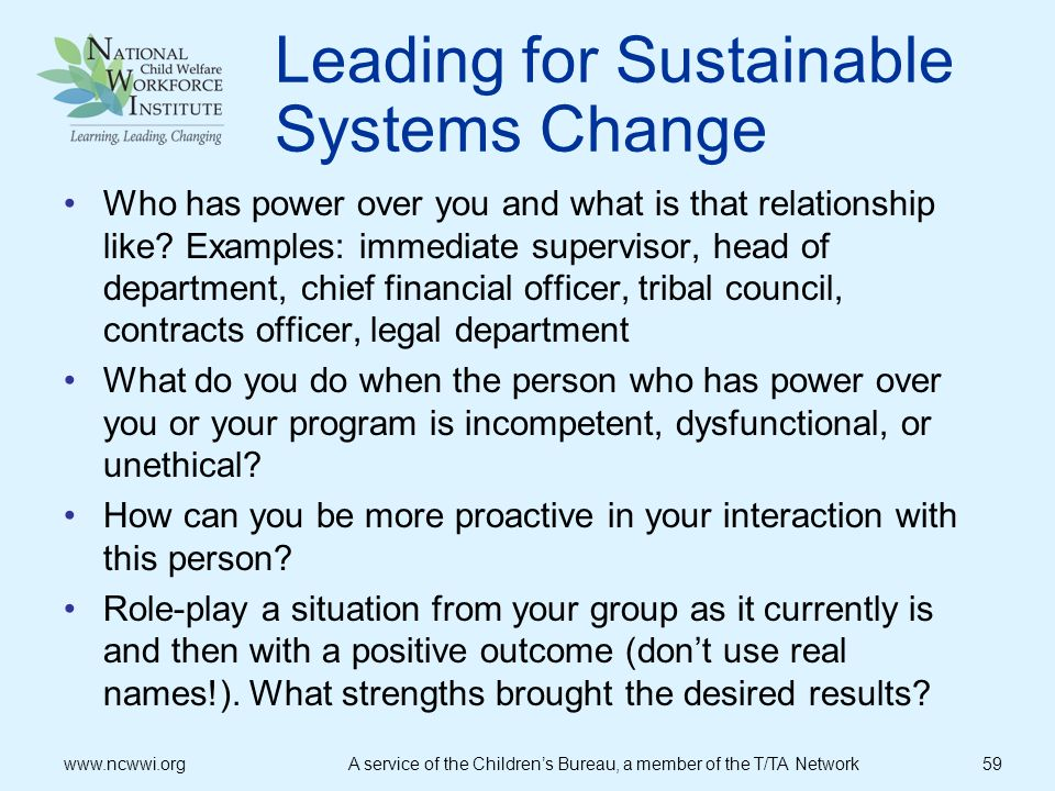 Leading for Sustainable Systems Change