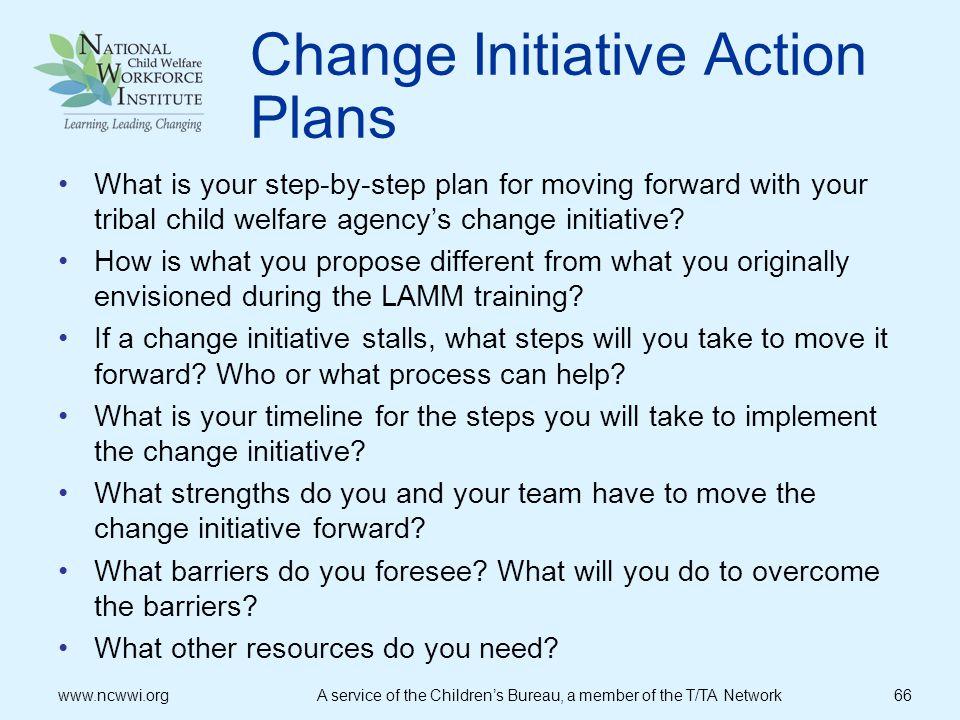 Change Initiative Action Plans