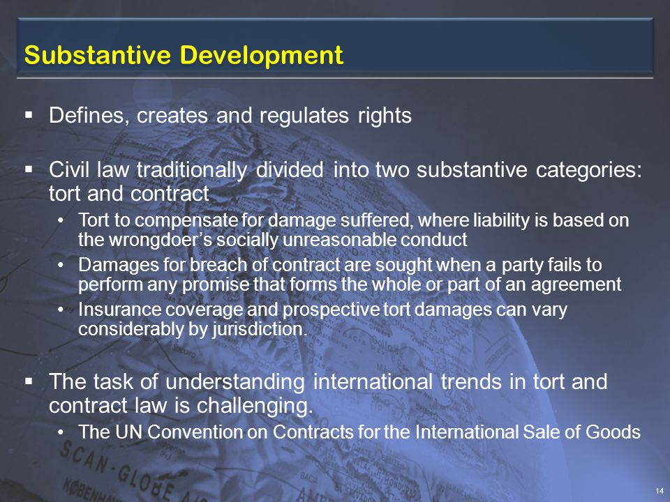 Substantive Development