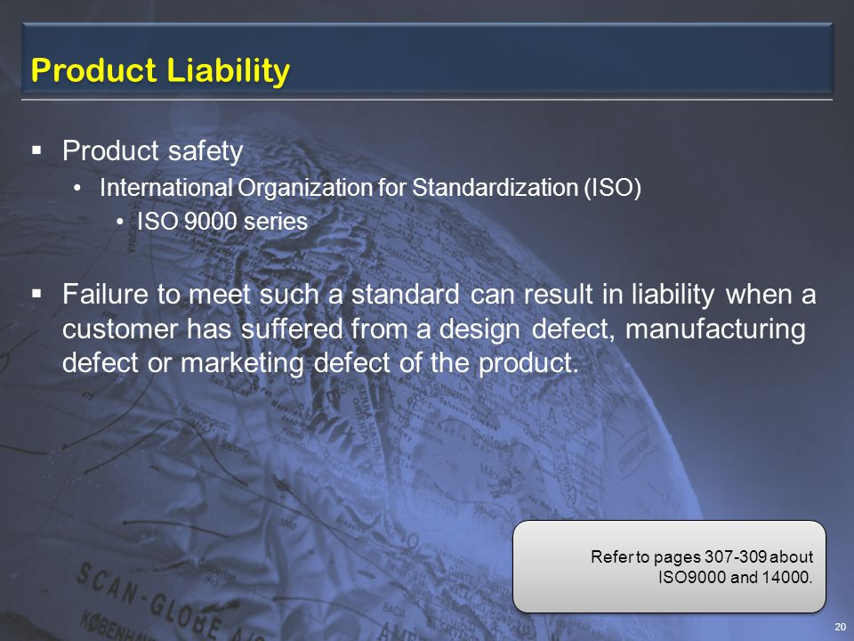 Product Liability Product safety