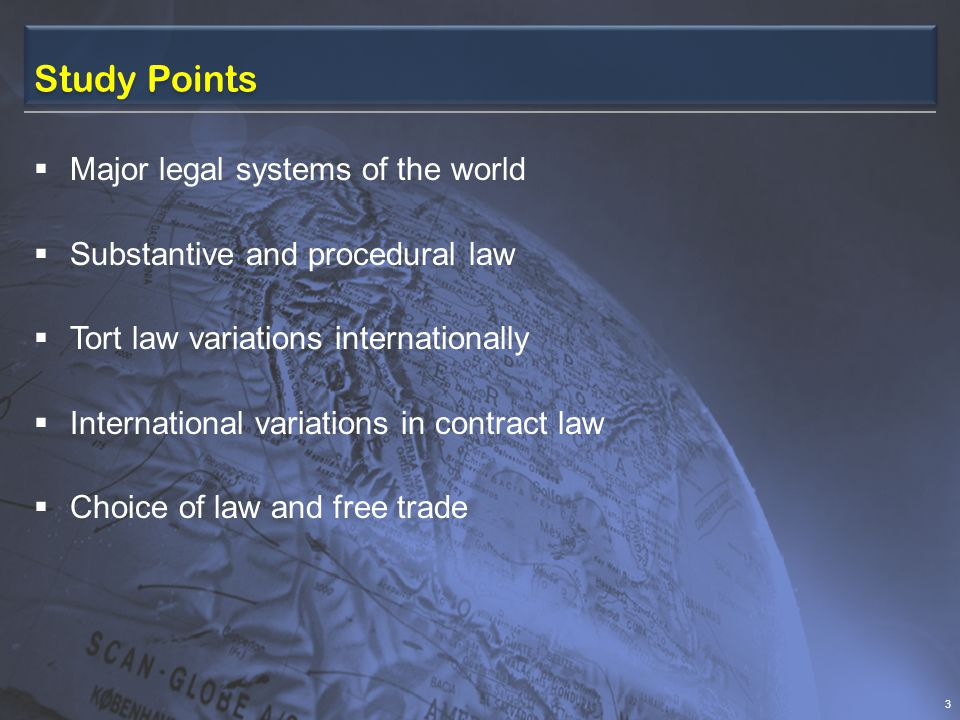 Study Points Major legal systems of the world