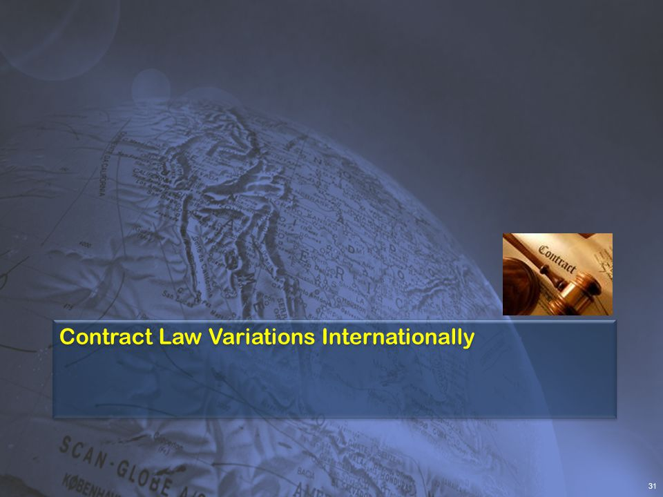 Contract Law Variations Internationally