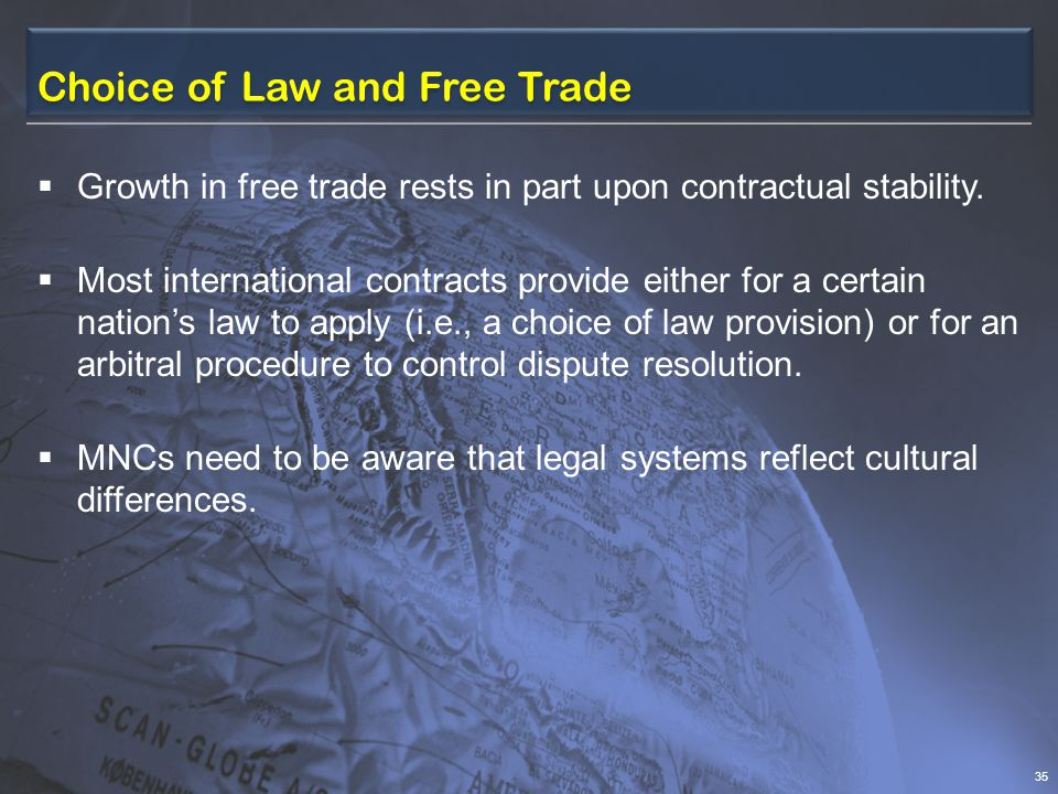 Choice of Law and Free Trade