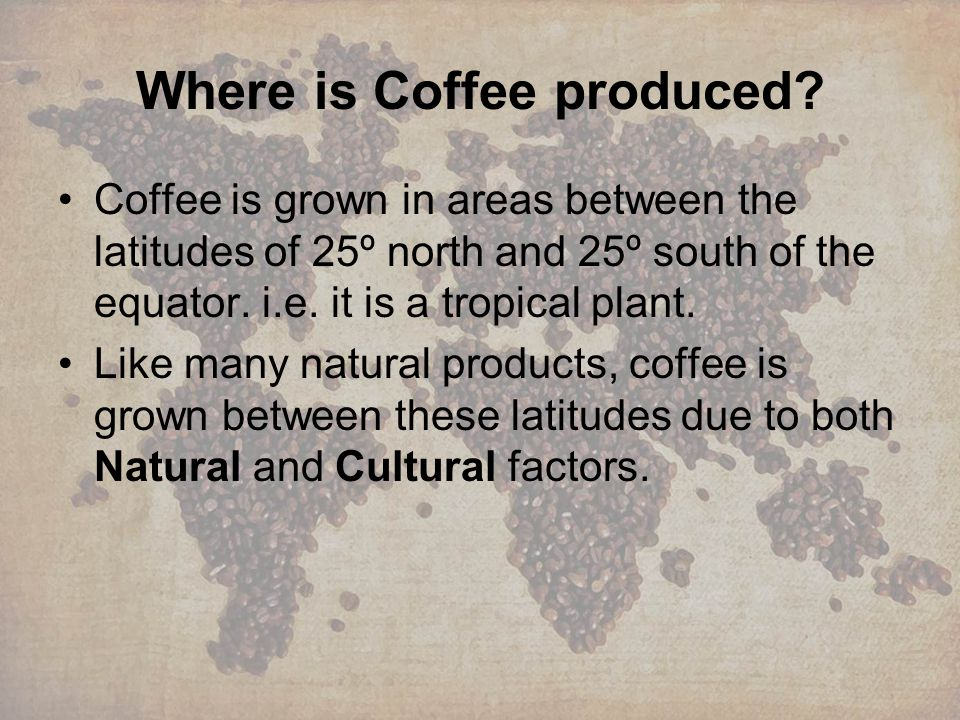 Where is Coffee produced