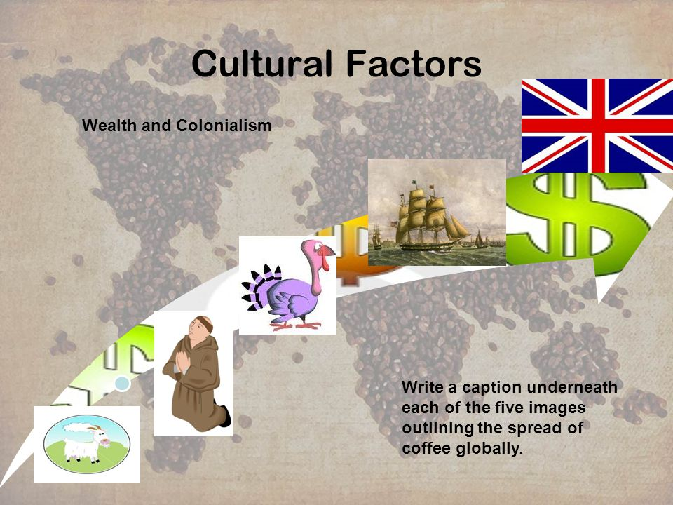 Cultural Factors Wealth and Colonialism