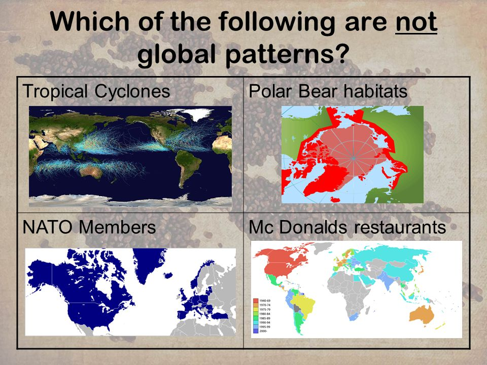 Which of the following are not global patterns