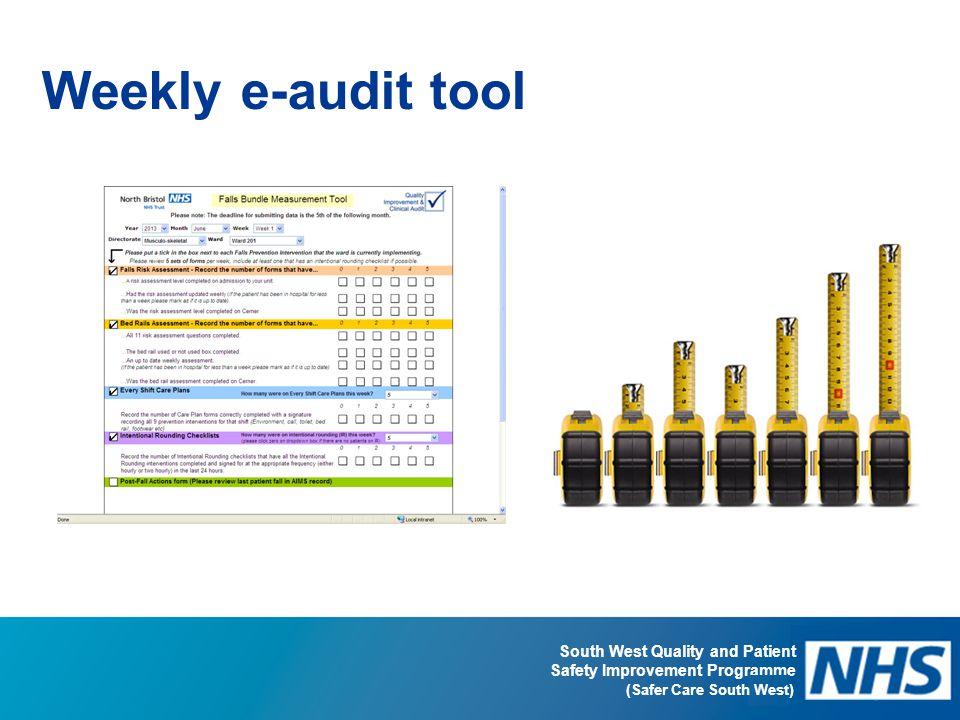 Weekly e-audit tool