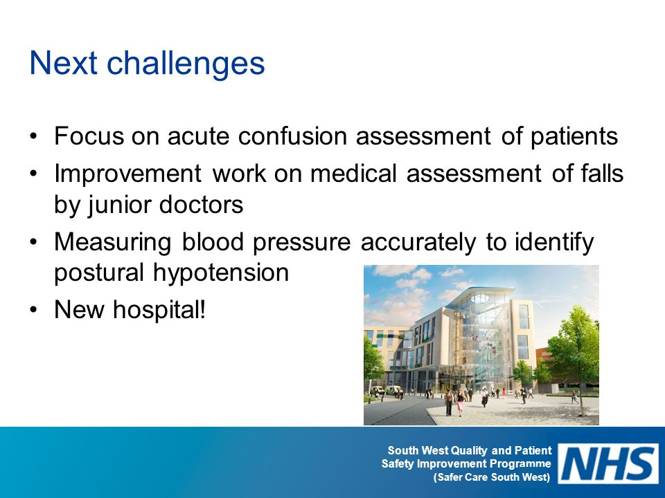 Next challenges Focus on acute confusion assessment of patients