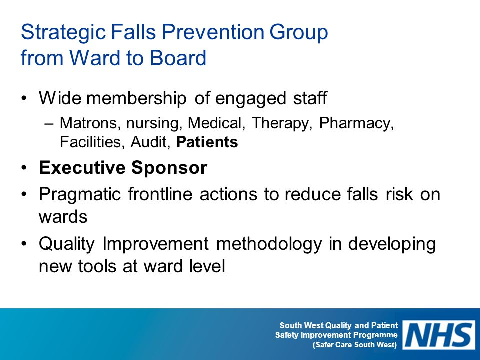 Strategic Falls Prevention Group from Ward to Board