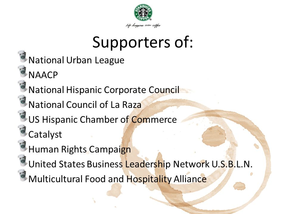 Supporters of: National Urban League NAACP