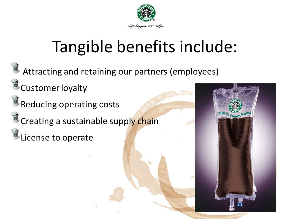 Tangible benefits include: