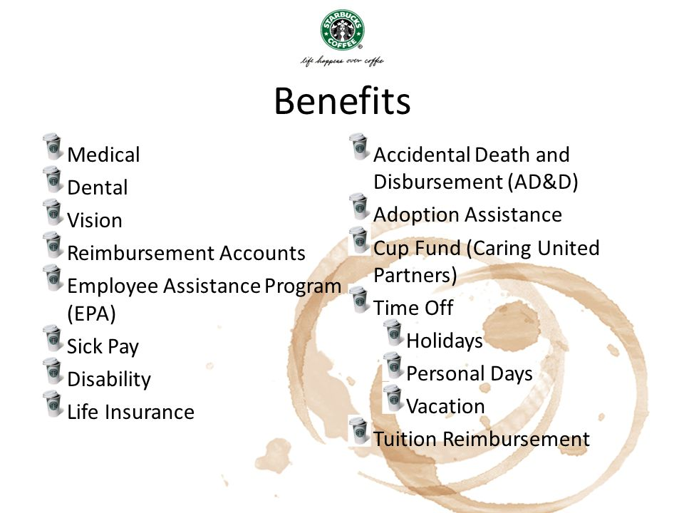 Benefits Medical Accidental Death and Disbursement (AD&D) Dental
