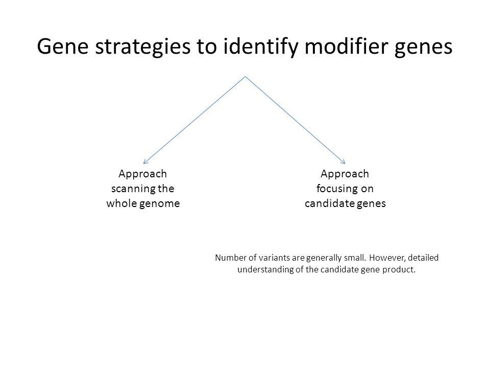 Gene strategies to identify modifier genes