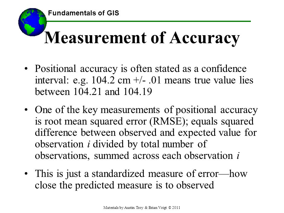 Measurement of Accuracy