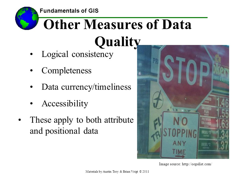 Other Measures of Data Quality