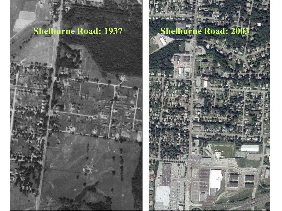 Shelburne Road: 1937 Shelburne Road: 2003