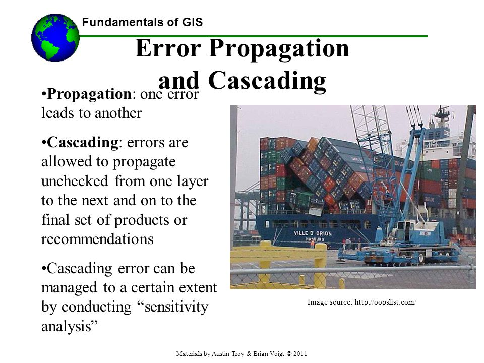 Error Propagation and Cascading