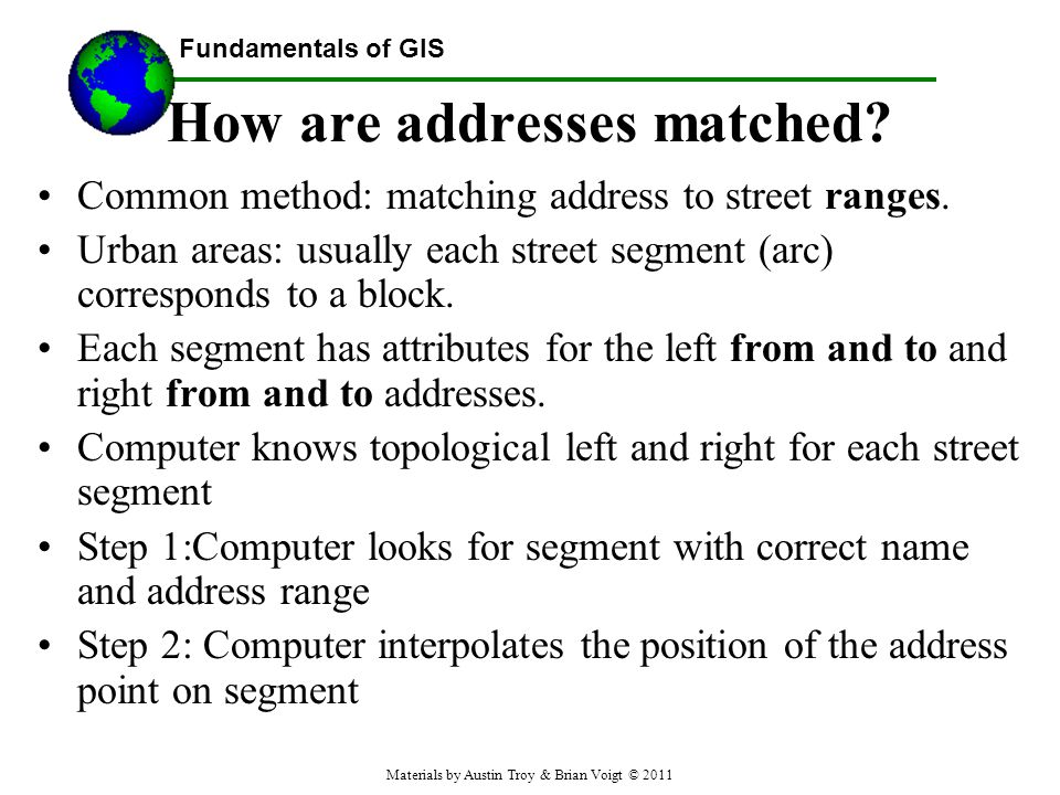How are addresses matched