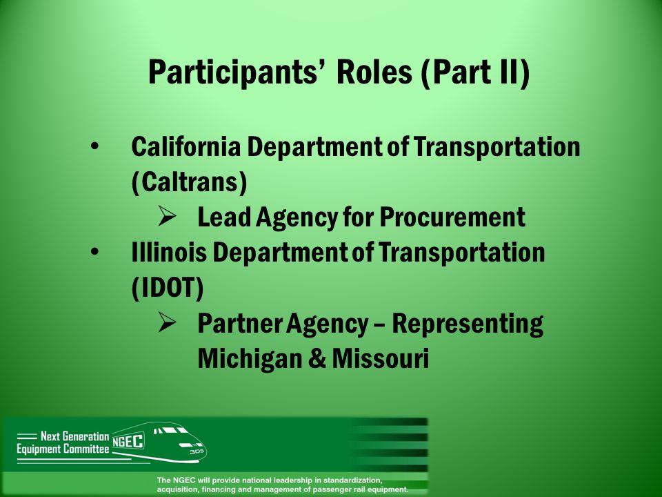 Participants' Roles (Part II)