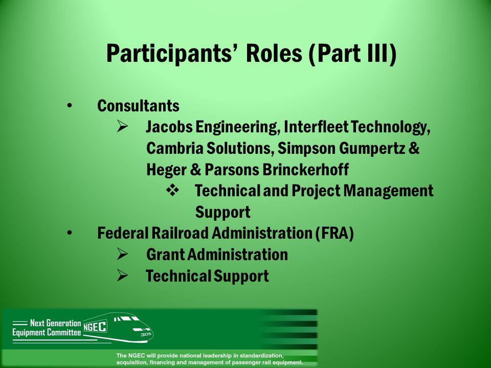 Participants' Roles (Part III)