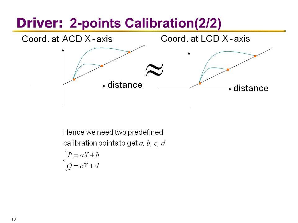 Driver: 2-points Calibration(2/2)