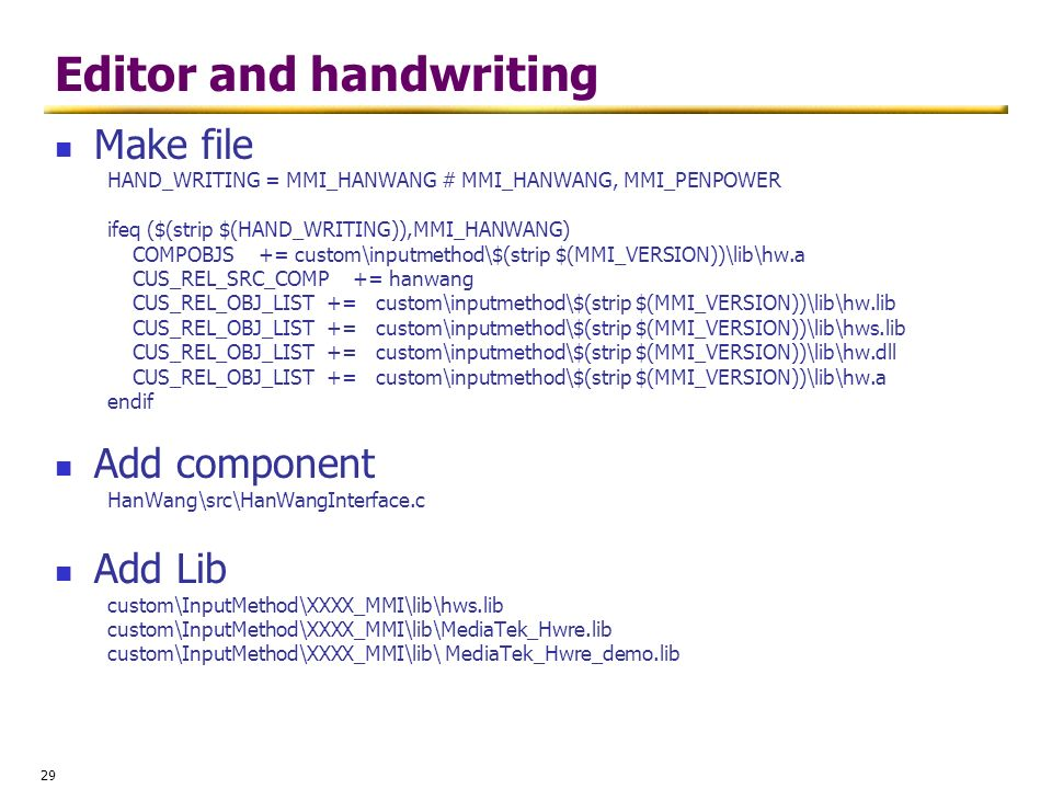 Editor and handwriting