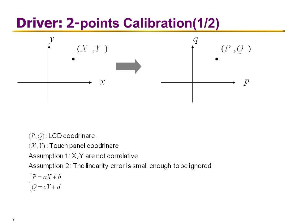 Driver: 2-points Calibration(1/2)