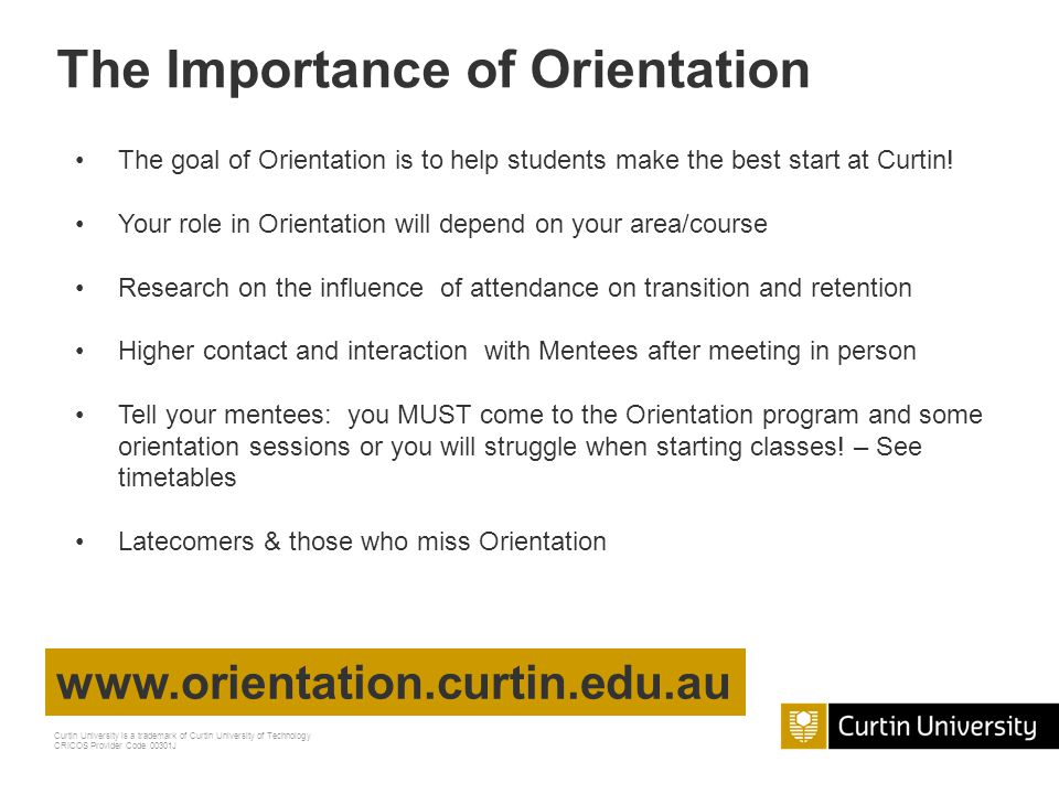 The Importance of Orientation