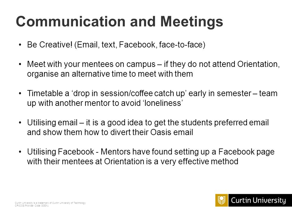 Communication and Meetings