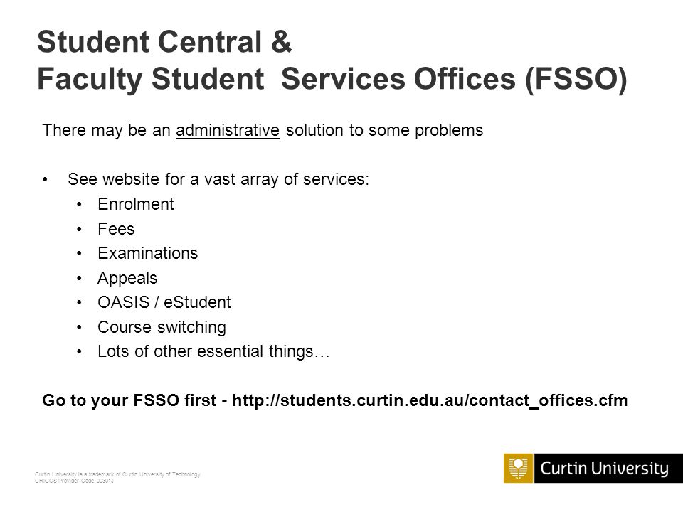 Faculty Student Services Offices (FSSO)