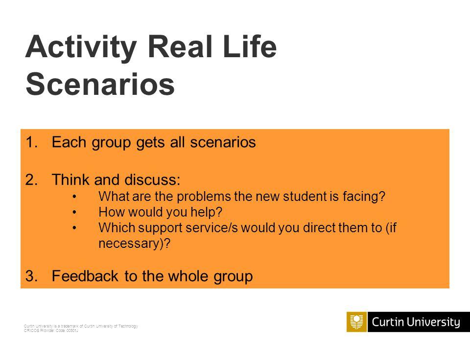 Activity Real Life Scenarios