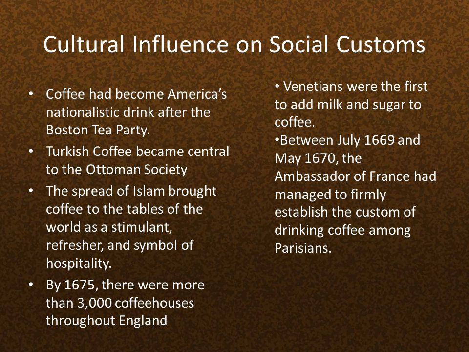 Cultural Influence on Social Customs
