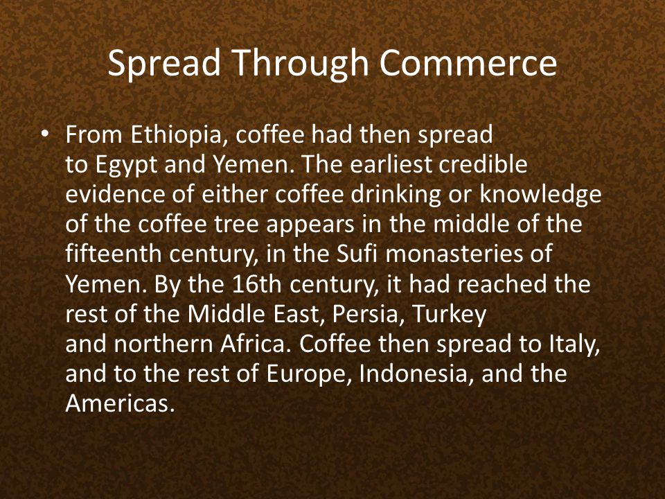 Spread Through Commerce