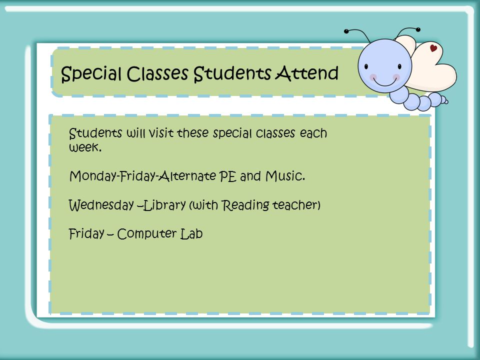 Special Classes Students Attend