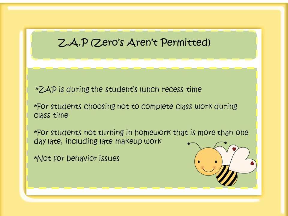 Z.A.P (Zero's Aren't Permitted)