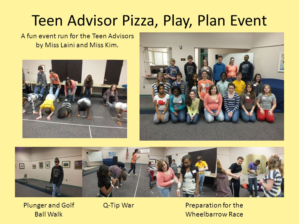 Teen Advisor Pizza, Play, Plan Event