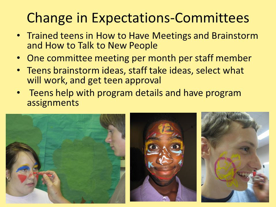 Change in Expectations-Committees