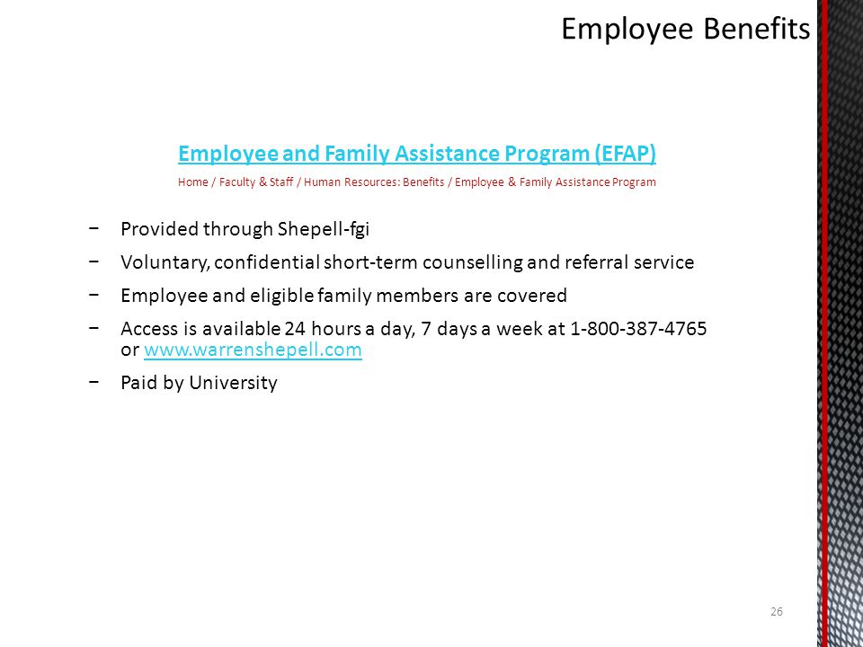 Employee and Family Assistance Program (EFAP)