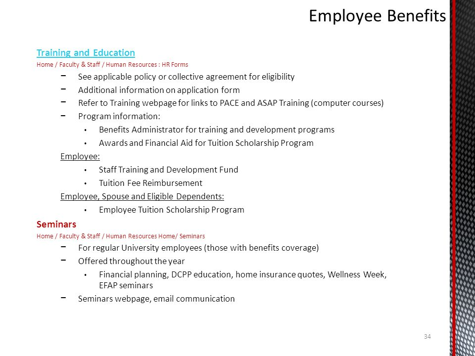 Employee Benefits Training and Education Seminars