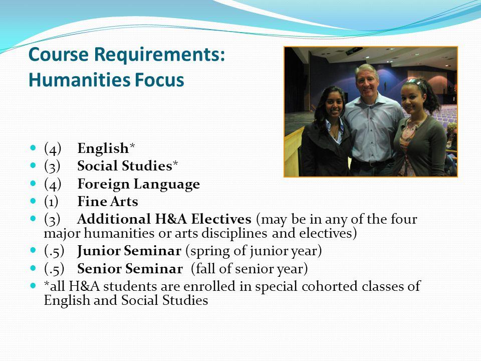 Course Requirements: Humanities Focus