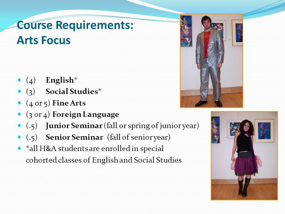 Course Requirements: Arts Focus