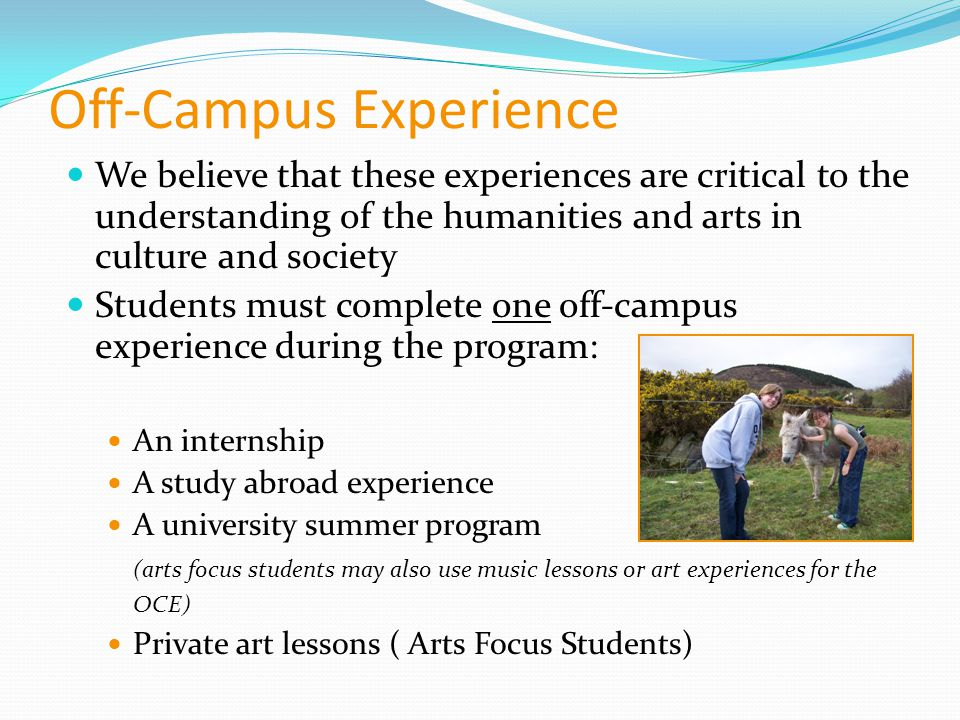Off-Campus Experience