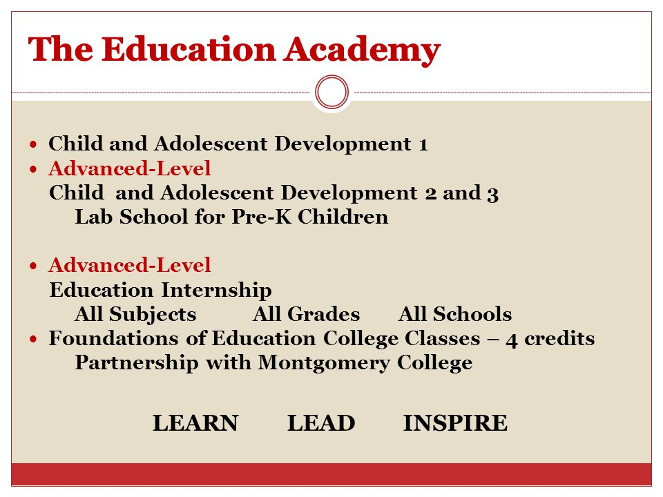 The Education Academy LEARN LEAD INSPIRE