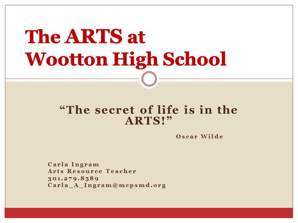 The ARTS at Wootton High School