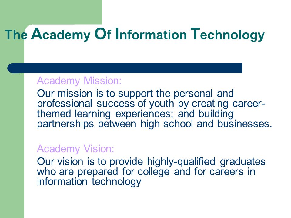 The Academy Of Information Technology